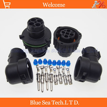 Sample,1 sets 4 Pin AMP/TE 1-967402-1/1-967325-3 Auto Sensor plug connector with sheath for Car,oil exploration,railway etc
