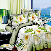 Home Textiles Quality 3d Sunflower Flowers Bedding Set 4pcs Queen&Full Size Cartoon Family Bed Set