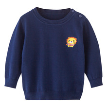 New Knitted Kids Cardigan for Girl Pure Color Autumn Spring Cotton Baby Boy Sweater Pink/Navy