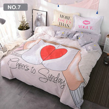 Wholesale ! Eco-Friendly Printed 4 pcs Bedding Sets for Kids/ Children Cartoon Bedding Set for Girls & Boys 100% Cotton(China)