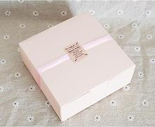 1-18 Joy, 12*12*4.2cm Pink carton box,Chrismas/wedding/birthday gift packaging,Cookies/Biscuits/Egg Tart paper box(China)