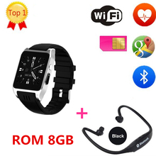 New Arrival X86s x02s Bluetooth Smart Watch Android 5.1 Ram 512 Rom 8G support Sim card 3G Wifi Camera 0.3 MP SIM Card Skype IOS(China)