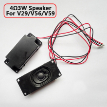 For V59/56/59 4 Ohm 3W LCD Panel Speaker Amplifier audio frequency Output - Black (30mm x 70mm) 1 Pair Free Shipping