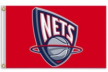 New Jersey Nets Flag 3ft x 5ft Polyester NBA New Jersey Nets Banner Flying Size 90*150cm(China)