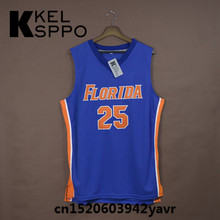 Custom Adult Throwback Basketball Jerseys #25 Chandler Parsons Florida Gators Embroidered Basketball Jersey Size XXS-6XL