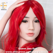 Buy Top Quality WMDOLL Head Silicone Sex Love Doll Metal Skeleton Sexy Dolls Heads Men Oral Sexual Toy