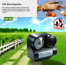 New Hot Humane Protective Black Ultrasonic Infrared Sound Flashlight Birds Repeller Driving Controller