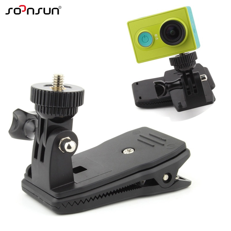 Action Camera Clip For GoPro Hero 7 6 5 4 Mount 360 Degree Rotary Clip CS
