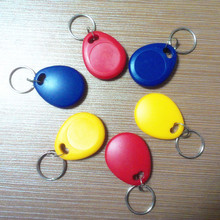 (10 pcs/lot) 125khz Writable Keyfobs RFID T5577 Proximity Rewritable Blank Keychains Access Control token Tags(China)