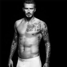 HC1024 Fashion Waterproof Fake Tattoo Stickers Beckham Same Paragraph Chinese Words Water Transfer Temporary Tattoos Sticker