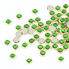 Blueness 100pcs Glitter Green Crystal Rhinestones for Nail Arts Design Manicure Stud 3D Charms Nail Jewelry PJ336
