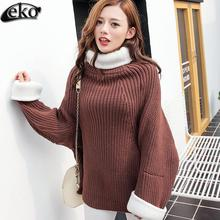 Autumn Fashion Lady Thick Knitted Christmas Sweater Jumper Brand New Winter Knitted Turtleneck Cashmere Pullover Sweater Women