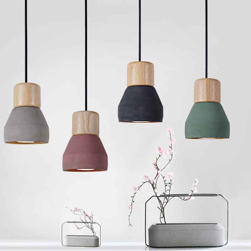 Modern Pendant Lights Cement Droplight Industrial Retro Hotel Cafe Bar Loft Home Decor Hanging Lights Indoor Lighting Lamp<br>