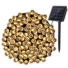 LEDERTEK Top 200 LED Outdoor Solar Lamps LED String Lights Fairy Holiday Christmas Party Garlands Solar Garden Waterproof Lights(China)