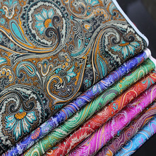 CF77 1 Yard Phoenix Pattern Traditional Chinese Stain Qipao Women Jacquard Brocade Fabric Creative Chinese New Year Gift(China)