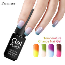 Paraness 7ML UV LED Thermo Gel Nail Polish Temperature Changing Color Gel Varnish Art Chameleon Soak Off Nail Gel Polish(China)