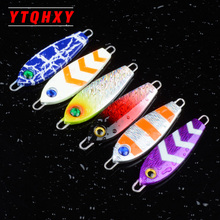 1Pcs Metal Jig Fishing Lure 7cm 35g 3D Eyes Artificial Bait Boat Hard Lead Spinner iron plate Lures fishing accessories WQ8121(China)
