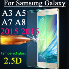 Toughened Glass Screen Protector For Samsung Galaxy A3 A3000 A5 A5000 A7 A8 2015 2016 Tempered Glass Explosion Proof Film