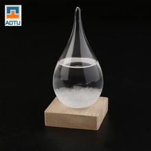 AUTO Desktop Droplet Storm Glass Water Drop Weather Storm Forecast Predictor Monitors Bottle Home Wedding Decor Craft Gift