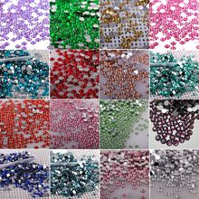4mm Clear Crystal Stone FlatBack Rhinestones Trim Strass Glitter DIY Nail Art Phone Craft Dress Decoration  17 Colors For Choose