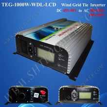 single phase 45-90v dc to ac 220v 230v 240v wind tie grid inverter 1000w