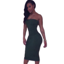 Europe and the United States plus-size wrapped chest package hip green sexy cultivate one's morality dress sexy tight night dres