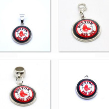 2017 New Arrival Pendant MLB Boston Red Sox Charm Pendant Fit Bracelet&Floating Locket DIY Dangle Charms Jewelry Baseball Fans