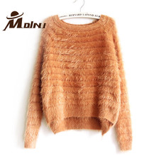 Winter Warm Trendy Sweater Women Mohair Jersey Pullover Christmas Clothing For Female Sweet Pull Femme Knitting Wool Knitted Top