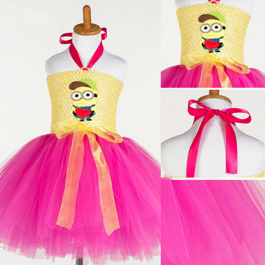 high quality baby clothes china handmade cartoon patchwork hot pink tutu dress kids wear for baby girl outfit<br><br>Aliexpress