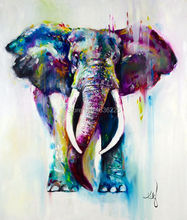 Hand Painted Abstract Elephant Oil Painting On Canvas Modern Texture Palette Knife Art 1 Piece Home Decor Wall Picture Sets