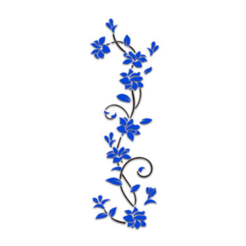 HTB1l8yedh6I8KJjy0Fgq6xXzVXat - Hoomall Acrylic Flower Wall Stickers Poster New Year Decorations Removable Stickers for Kitchen DIY Wall Stickers for Kids Rooms