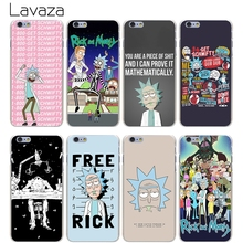 Lavaza rick and morty Hard Transparent Cover Case for iPhone X 10 8 7 6 6S Plus 5 5S SE 5C 4 4S