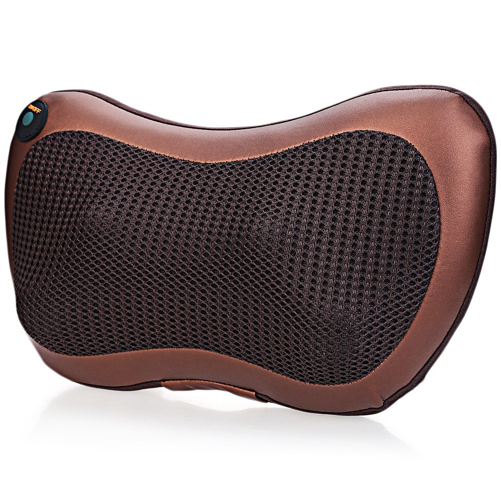 Multifunction Breathable Mesh Surface Massager Pillow Automobiles Home Dual-use Infrared Heating Relax Cervical Vertebra Leg<br>
