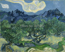 Vicent Van Gogh - Olive trees art painting print on canvas for home decoration and wall art for living room(China)