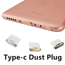 Type-c Dust plug Aluminium Alloy Type c Jack Mobile phone USB-C Charger Stopple for Xiaomi Mi5 mi6 Huawei P9 P10 LETV Meizu HTC(China)