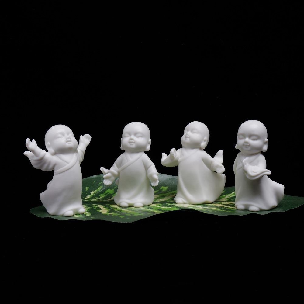 3 Styles Cute Buddha Statue Monk Figurine Yoga Mandala Pet Ceramic/'