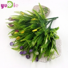 A decorative artificial grass hippocampus grass green garden plant simulation Home Decoration wedding decoration Free Shipping(China)