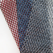 1 Yard Double Color Classic Sport Lining White Mesh Fabric French Hight Quality Honeycomb Blue Net Cloth DIY Red Sewing Tecidos