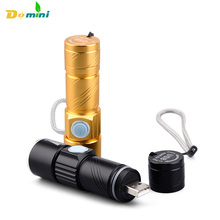 Domini Flashlight Lanterna x900 Lantern Usb Penlight Rechargable Led Flashlights With battery Cree LED Torch For Camping Fishing