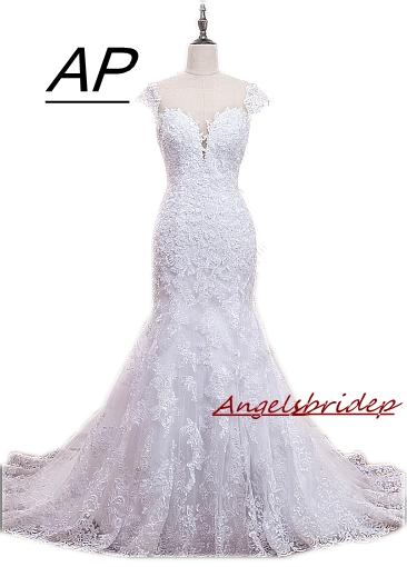 ANGELSBRIDEP Mermaid Wedding Dress 2019 Back Zipper Combine Button Vestido De Noiva Charming Sweetheart Beads Formal Bride Gowns
