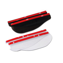 Black Smart Car Rearview Mirror Rear View Side Flexible Plastic Rain Water Visor Shade Guard For Mitsubishi Nissan Mazda