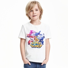 Summer 2017 New Children Boys Girls T Shirts Cartoon Car Clothing Kid super wings T-shirt for Baby Kids Sports Clothes Costume