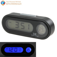 LED Screen 2 in1 Auto Car Clock Thermometer Fashion Vehicle Automotive Electronic Digital Clock Car Ornament