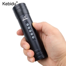 kebidu LED Flashlight Torch 1450mAh battery 150Hz-18KHz MP3 Music Player FM TF Sport Speaker For Outdoor Waterproof Bike Camping(China)