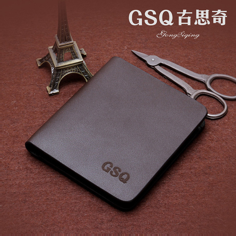 GSQ High Quality Leather Small Men Wallet Fashion Simple Famous Brands Hot Selling Designer Money Clip Male Purse Best Gift Q301<br><br>Aliexpress