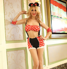 Halloween sexy minni mouse costume Cosplay Costume G-string underwear Outfit erotic ear adult minni mouse fancy dress & Ears