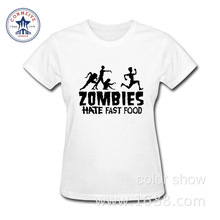 2017 Fashion New Gift Tee zombies funny Cotton funny t shirt women(China)