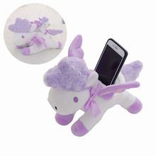 Lovely Plush Stuff Doll Toys unicorn-animal Stuffed Doll With Phone Holder Seat Toy For Children Adult Gift(China)