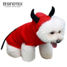 Dog Sweater Little Devil Pet Clothes Fleece Hoody Apparel Pets Products Cute Free Shipping(China)