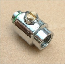 silvery male and female G1/4'' threads valve brass Water cooling accessories water cooling Application